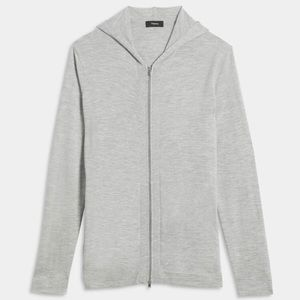 NWT Theory 100% cashmere zip up hoodie